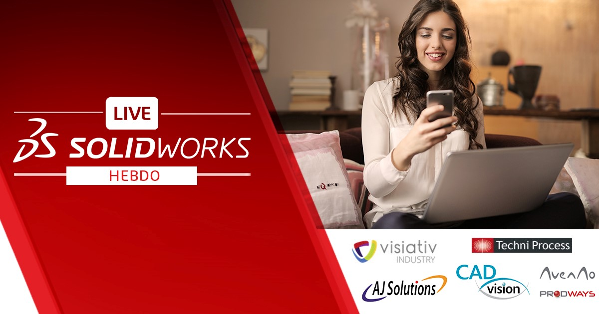 CAO : SolidWorks propose ses webinaires hebdomadaires