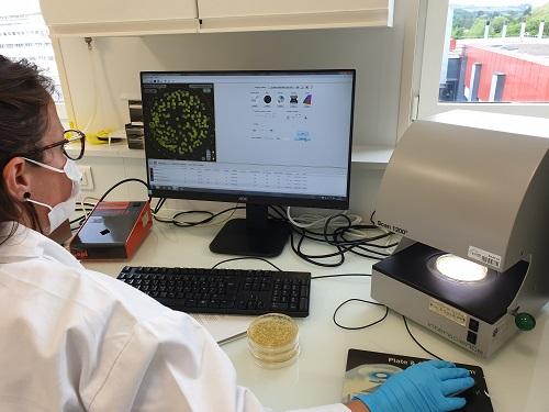 A Saint-Etienne, on teste l'efficacité de filtration bactérienne des masques