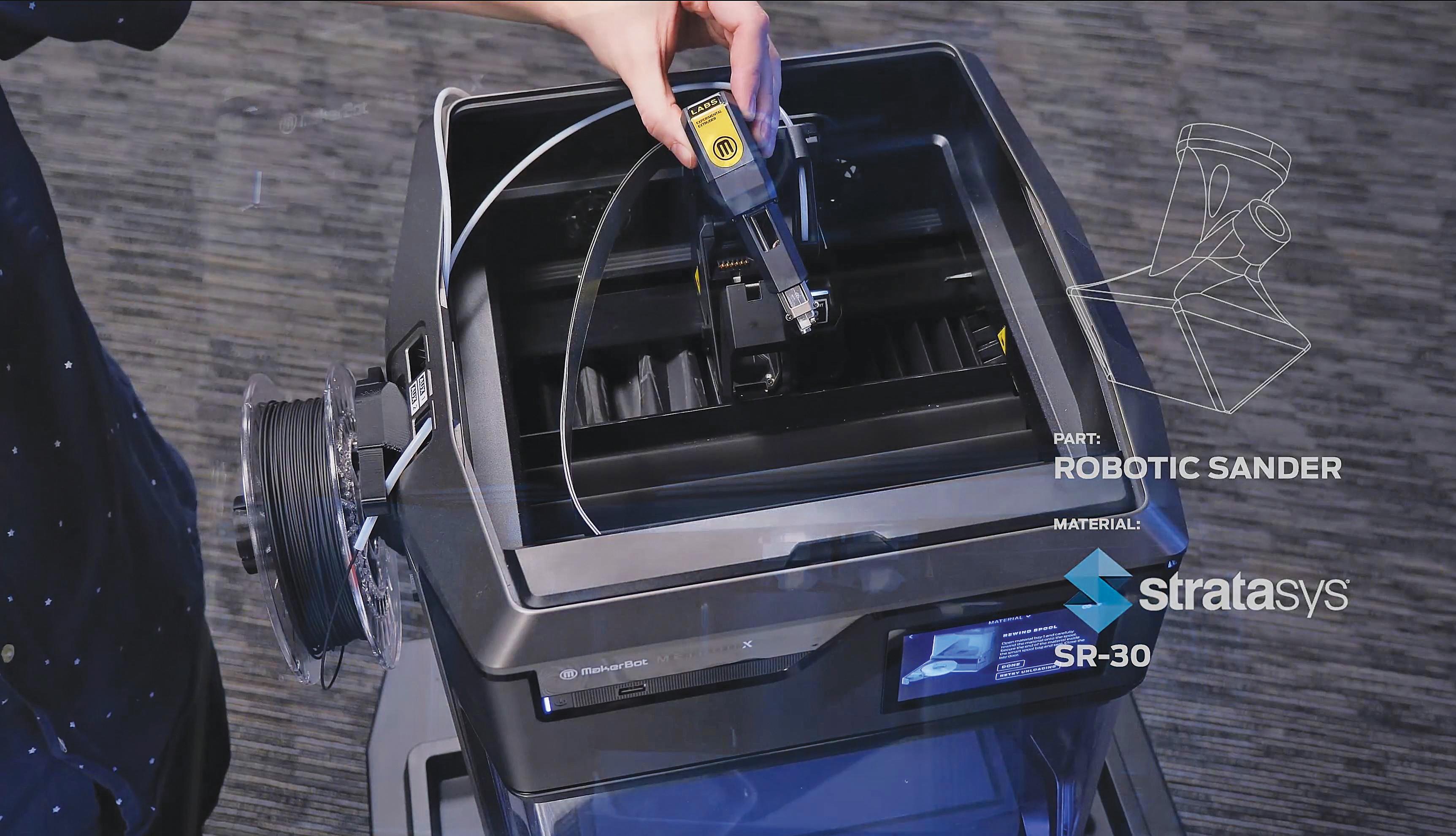 Une extrudeuse pour imprimer une multitude de matériaux