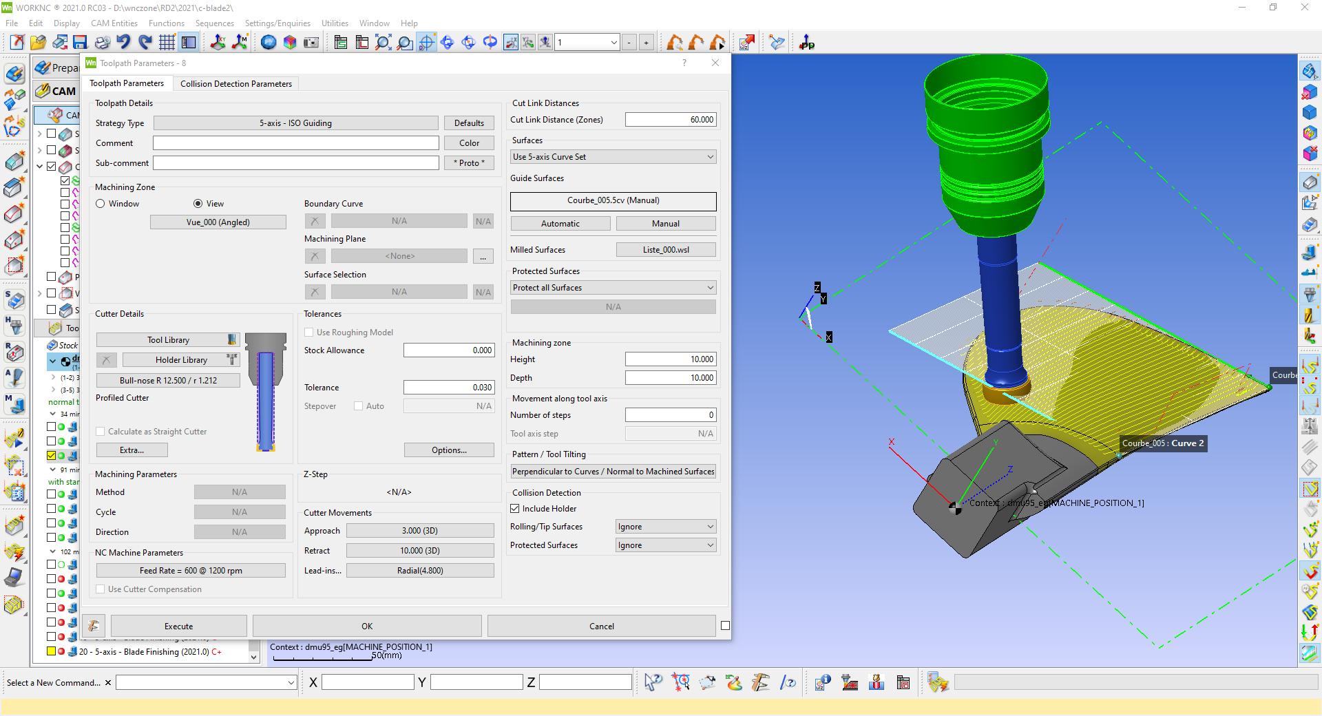 WorkNC 2021 facilite l'utilisation des outils de coupe à grande vitesse