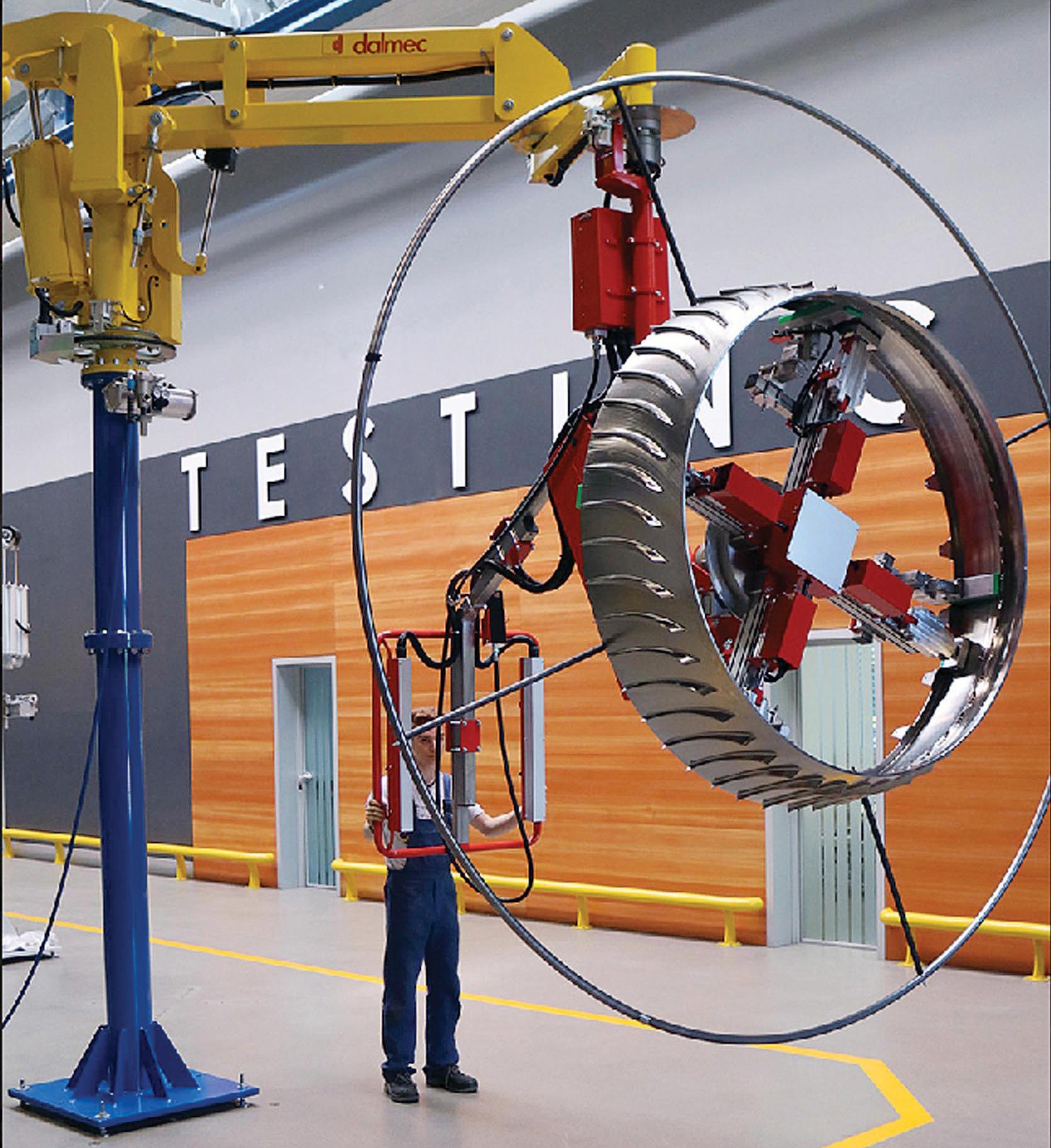 Un manipulateur pour pièces de turboréacteurs