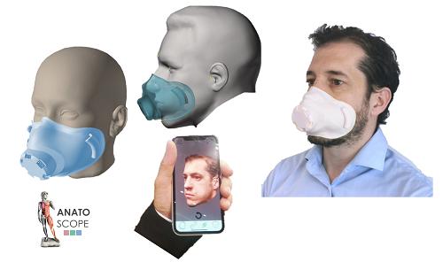 Covid-19 : un masque personnalisable depuis son smartphone