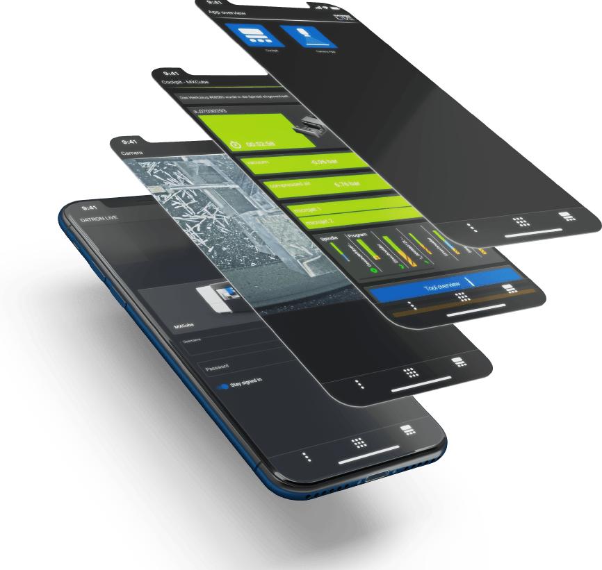 Contrôlez votre production à distance avec les nouvelles applications DATRON Live