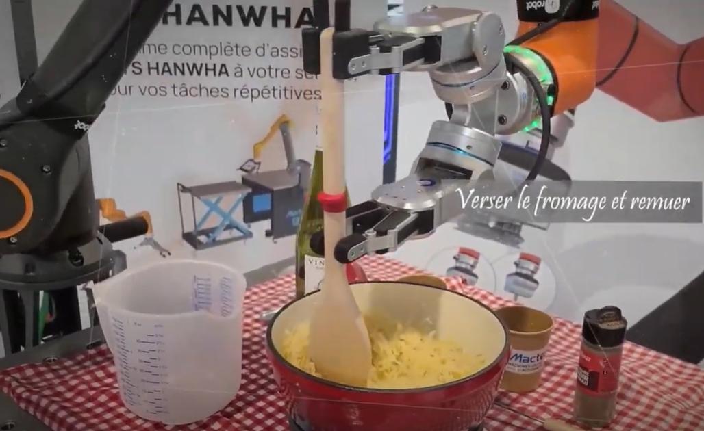 [Vidéo] Un robot qui sait préparer la fondue