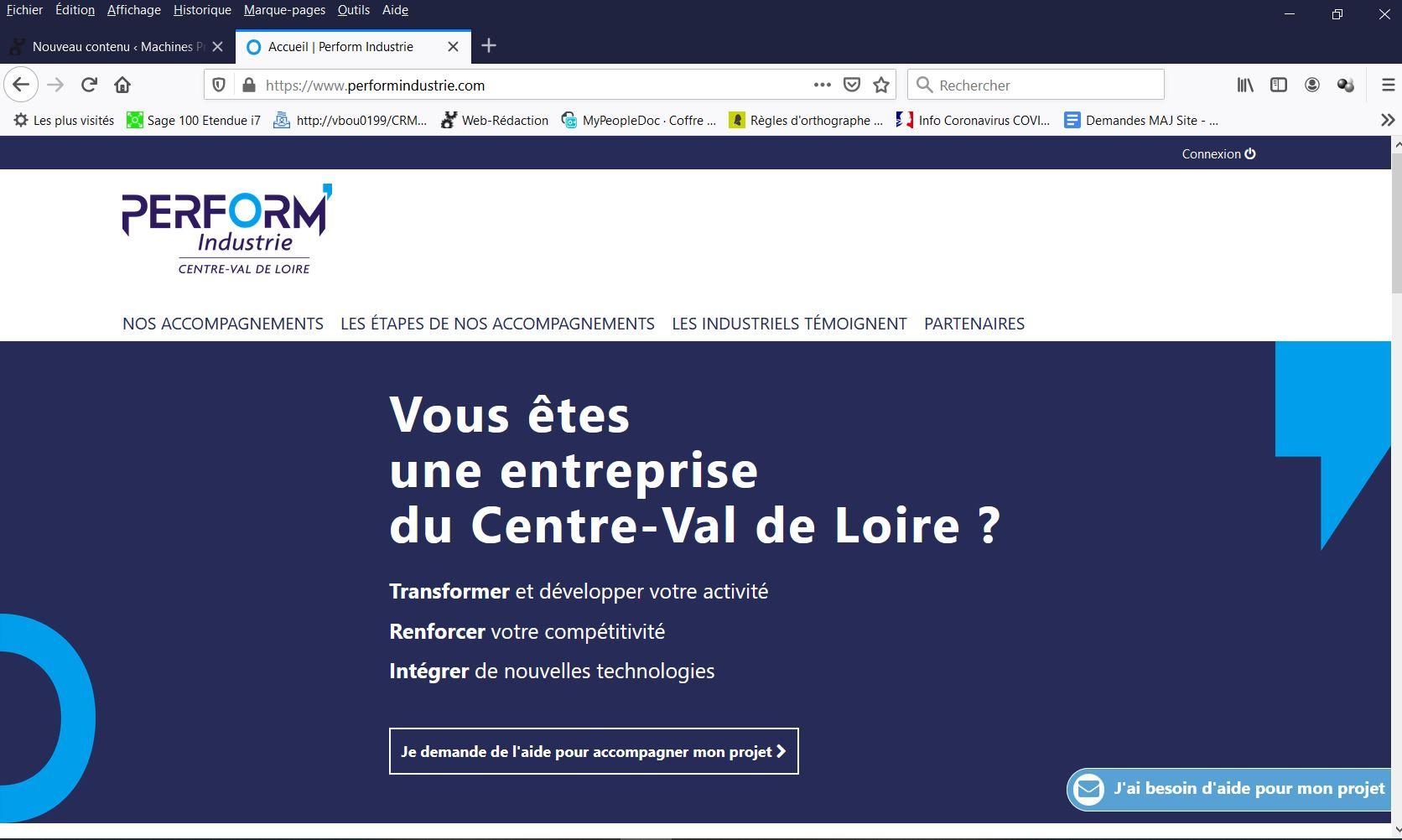 Perform'Industrie Centre-Val de Loire pour accompagner les entreprises vers l'industrie du futur