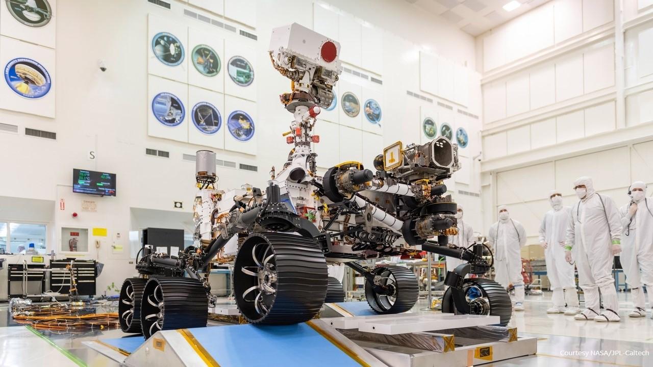 Mission Mars 2020 : des colliers de serrage ABB sur le rover Perseverance