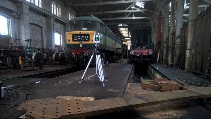 Un laser tracker pour faire renaître une locomotive