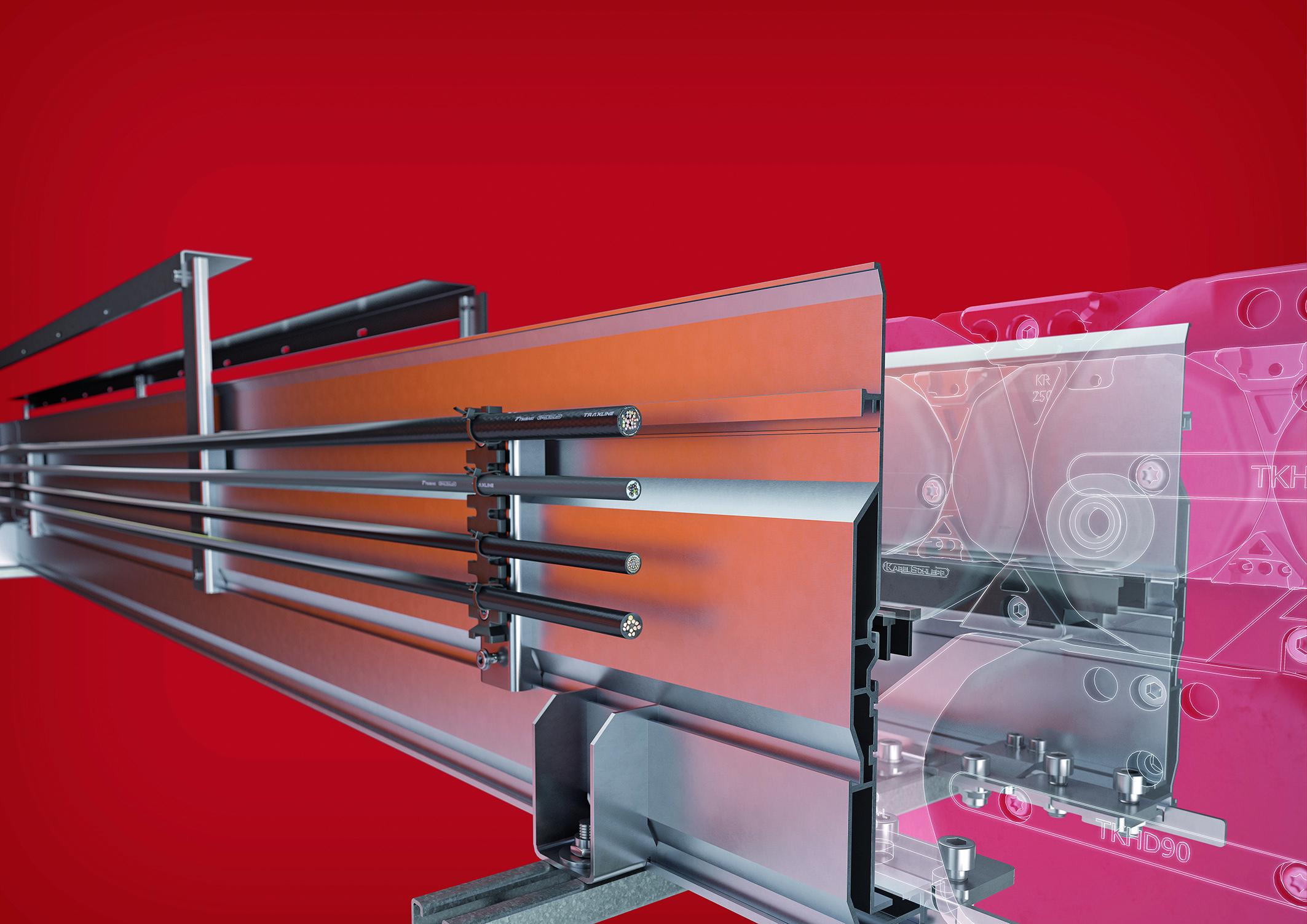 Optimiser le glissement d'une chaîne porte-câble