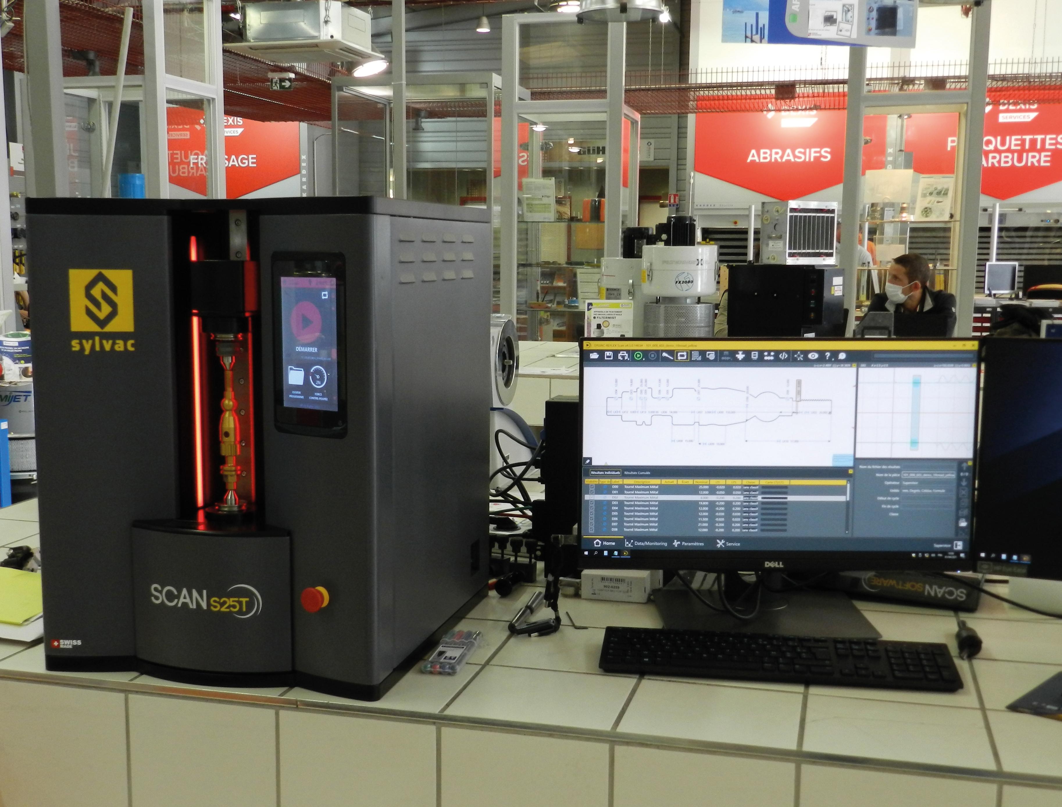 Une machine de mesure adaptée pour les filetages