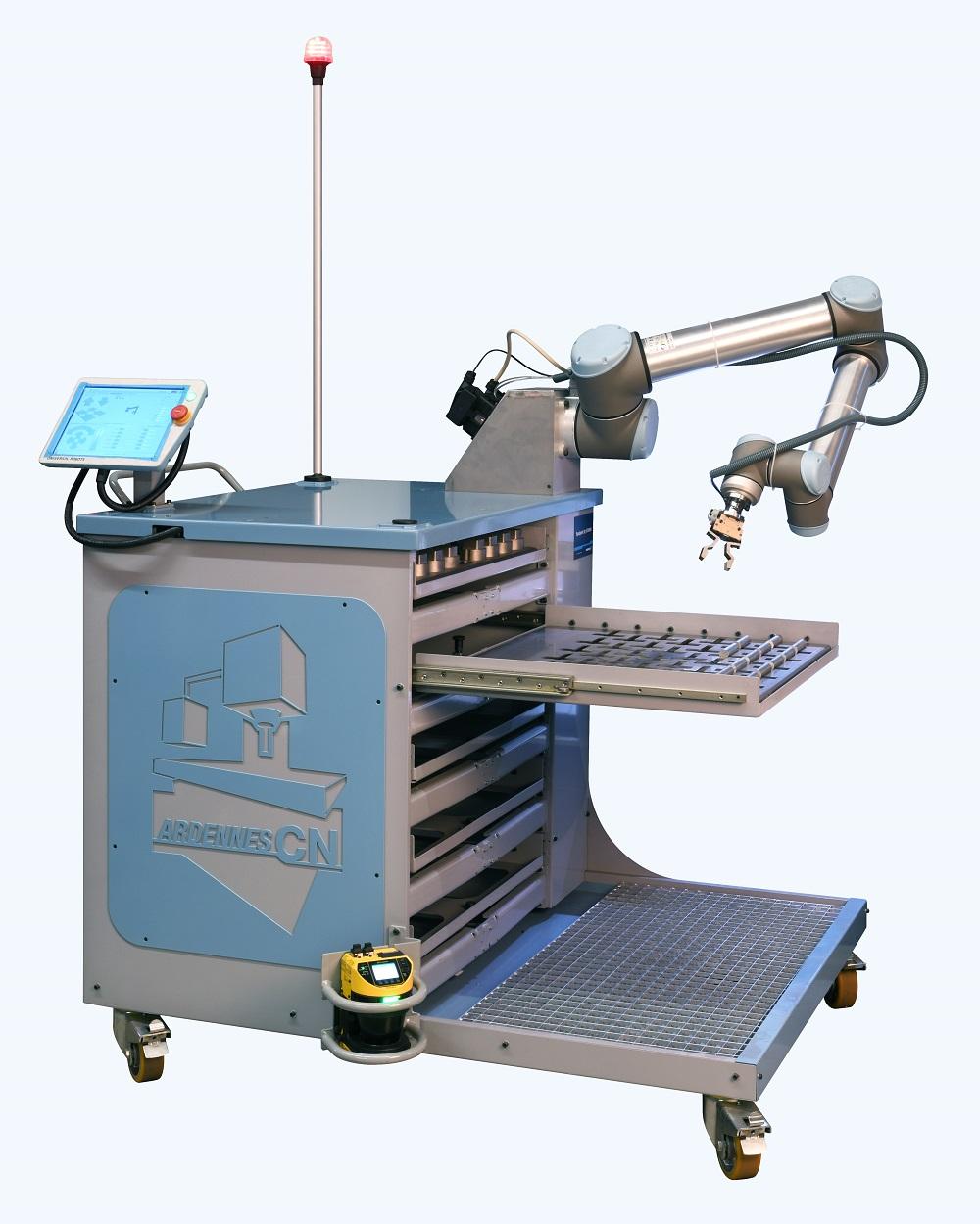 Une cellule robotisée mobile pour les machines-outils