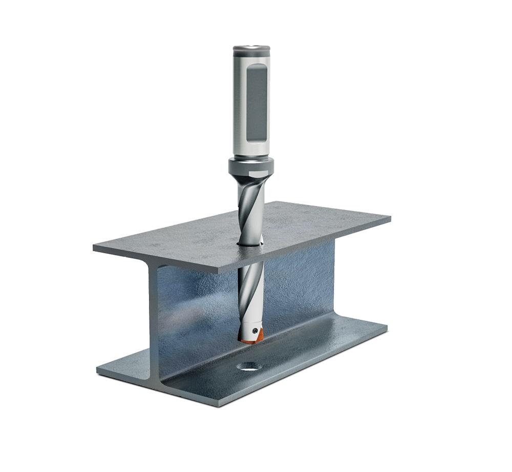 Un foret à plaquette pour les aciers profilés